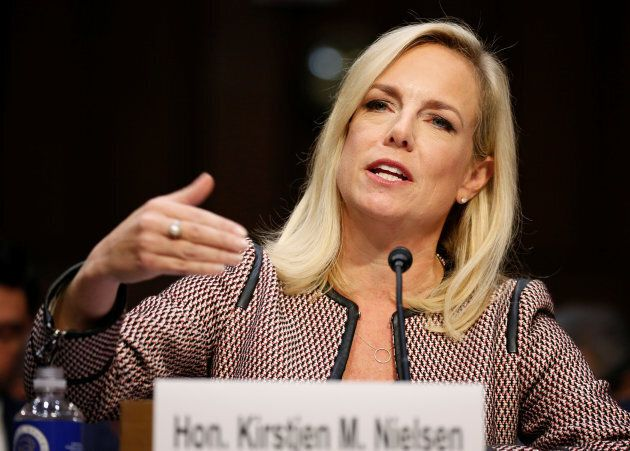 U.S. Secretary of Homeland Security Kirstjen Nielsen testifies to the Senate Judiciary Committee on
