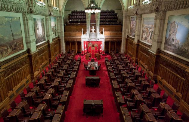 File photo of the Senate of Canada is seen on Parliament Hill in