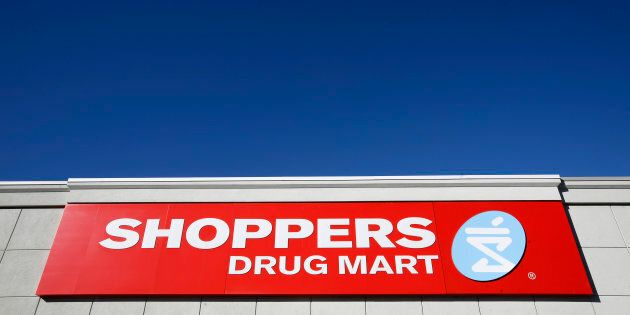 A sign is pictured outside a Shoppers Drug Mart in Ottawa November 10,