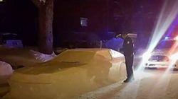 Montrealer Pranks Police With Amazing Snow
