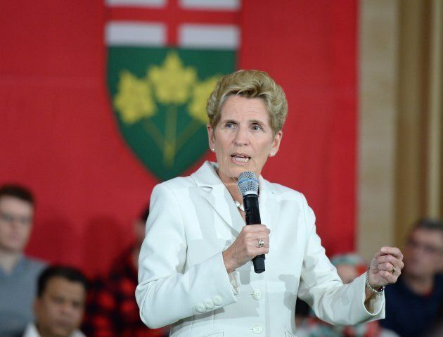 Ontario Premier Kathleen Wynne speaks during a town hall meeting in Ottawa on Jan. 18, 2018.