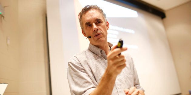 Jordan Peterson lecturing at the University of