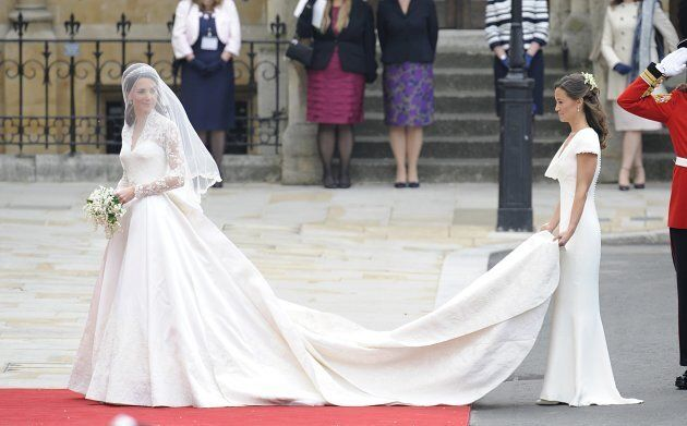 Catherine and Pippa Middleton at the royal wedding.