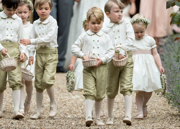 Prince George at auntie Pippa Middleton's wedding.