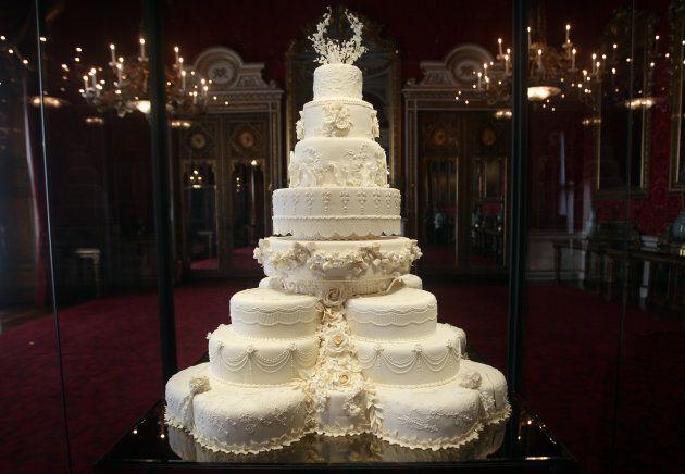 The Duke and Duchess of Cambridge's royal wedding cake.