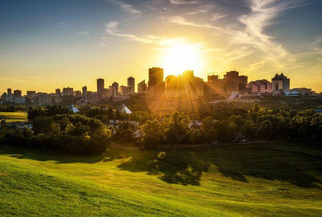 Sunrise above Edmonton, Alta.