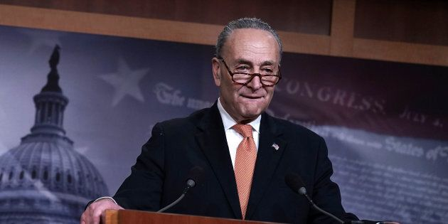 Senate Minority Leader Chuck Schumer (D-N.Y.) and most other Democrats, joined by four Republicans, voted...