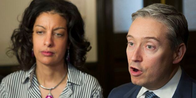 International Trade Minister Francois-Philippe Champagne and Quebec's Minister of the Economy, Science...