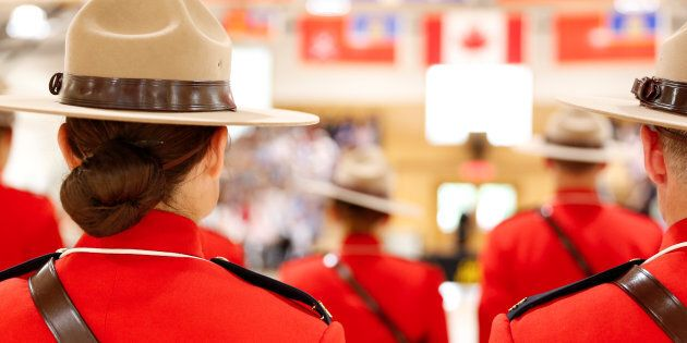 Royal Canadian Mounted Police cadets are shown at a graduation ceremony in Regina on June 5,