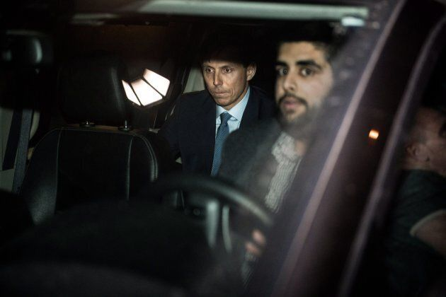 Ontario Progressive Conservative Leader Patrick Brown leaves Queen's Park after a press conference in...