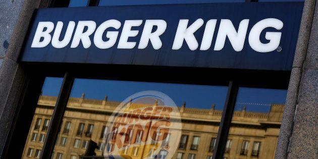 Burger King logo is seen in a restaurant in a communist-era building in Warsaw, Poland October 2,