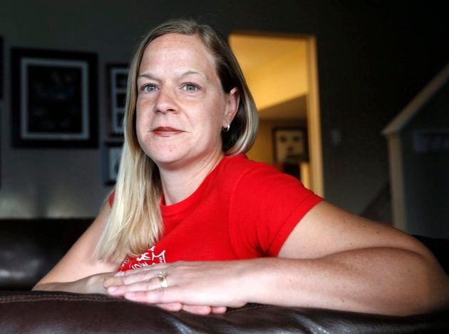 Jennifer McCrea is shown at her home in Calgary, Alberta on Oct. 4, 2016. A group of mothers who say they were wrongly denied sickness benefits are breaking their silence as the federal Liberal government continues to fight them in court despite a promise to do otherwise.