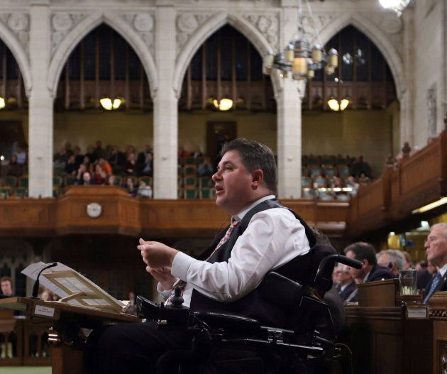 Disabilities Minister Kent Hehr is shown in the House of Commons on Dec. 7,
