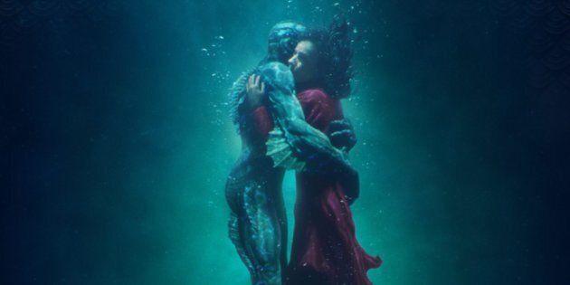 Actors Doug Jones and Sally Hawkins are seen in the 2017 poster for Guillermo del Toro's