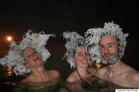 Takhini Hot Pools Hair-Freezing Contest Winners Trend Around The