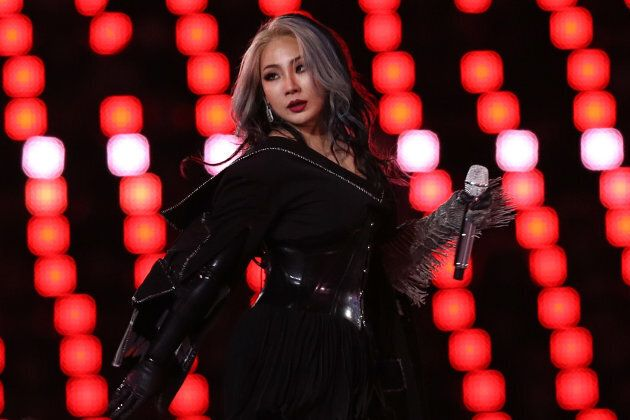 K-Pop singer CL performs during the Closing Ceremony of the PyeongChang 2018 Winter Olympic on Sunday in Pyeongchang-gun, South Korea.