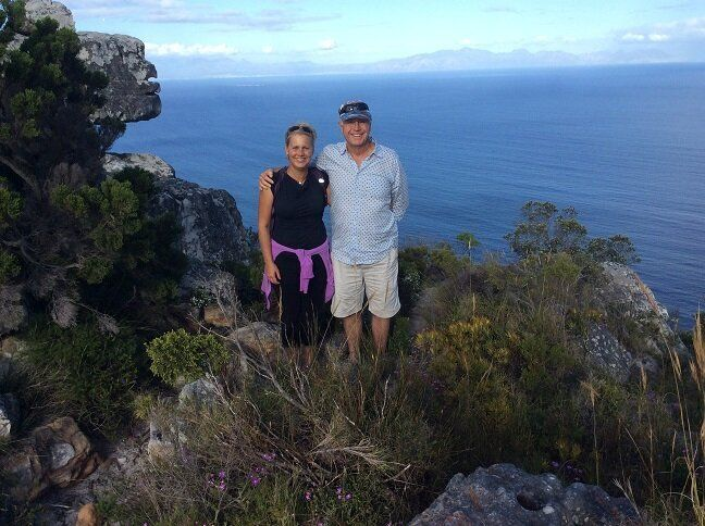 With my Uncle John, above Cape Town last October. While the Cape Peninsula is surrounded by ocean, nearly 4 million people could soon be without potable water.