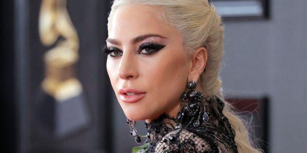 Lady Gaga at the 2018 Grammy
