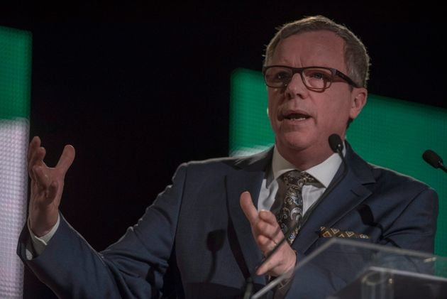 Outgoing Saskatchewan Premier Brad Wall speaks during the Saskatchewan Party Leadership Convention in...