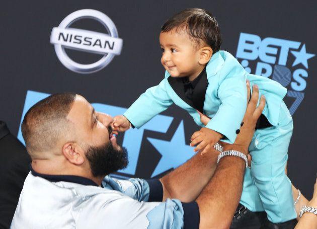 DJ Khaled and Asahd Tuck Khaled at the 2017 BET Awards on June 25, 2017.