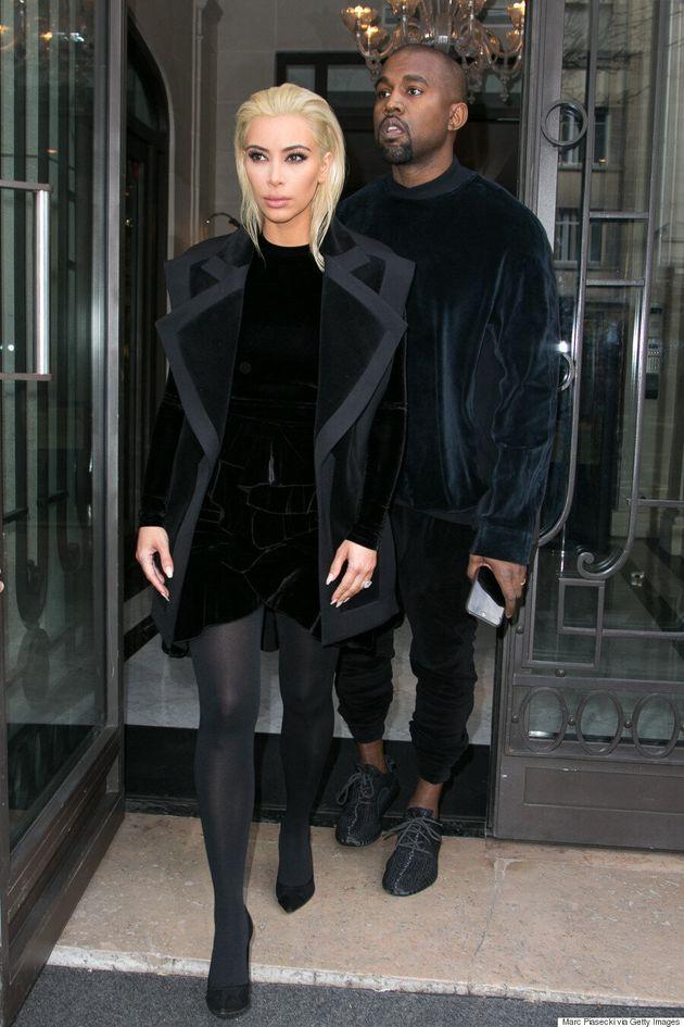 Kim Kardashian Goes Platinum Blond For Paris Fashion
