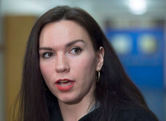 Mi'kmaq activist Rebecca Moore is seen at Halifax Central Junior High, formerly known as Cornwallis Junior...