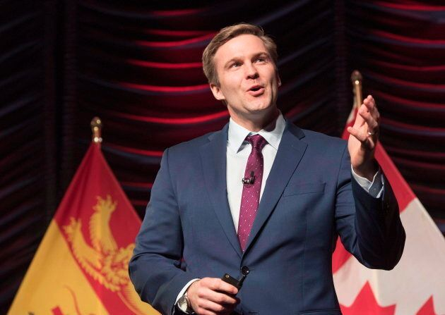 New Brunswick Premier Brian Gallant delivers the State of the Province address in Fredericton, N.B.,...