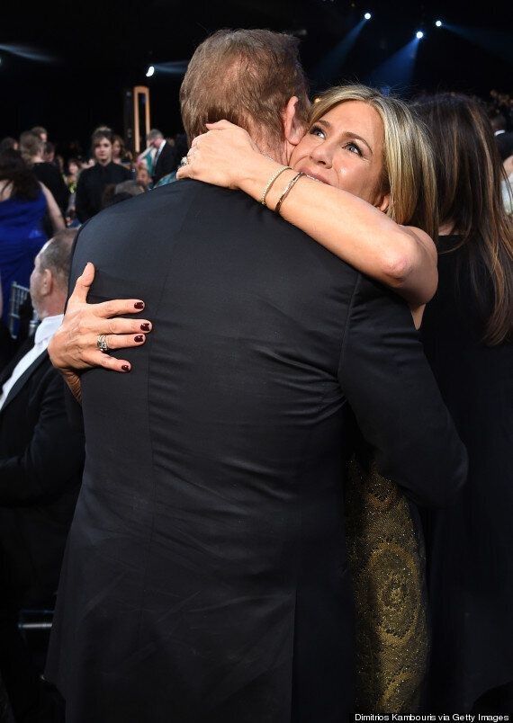 Jennifer Aniston, Justin Theroux Attend 2015 SAG Awards, Make A Red Carpet