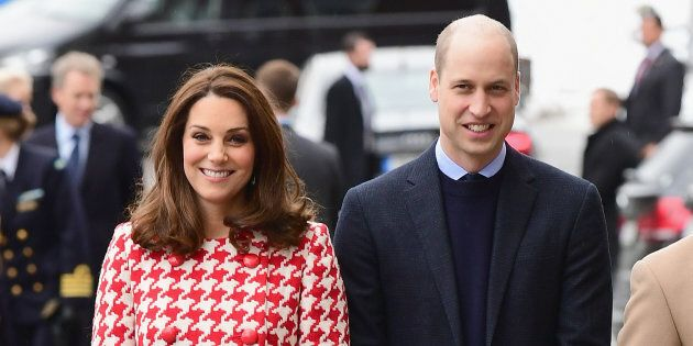 The Duke and Duchess of Cambridge visit the Karolinska Institute during their Royal visit to Sweden and Norway on Jan. 31, in Stockholm, Sweden.
