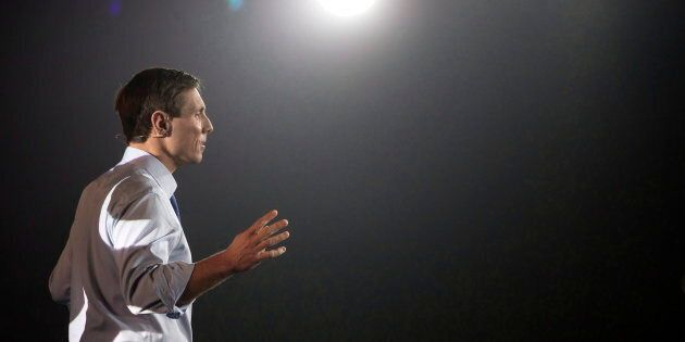 PC Leader Patrick Brown addresses the Conservative Party convention, in Toronto on Saturday, November...