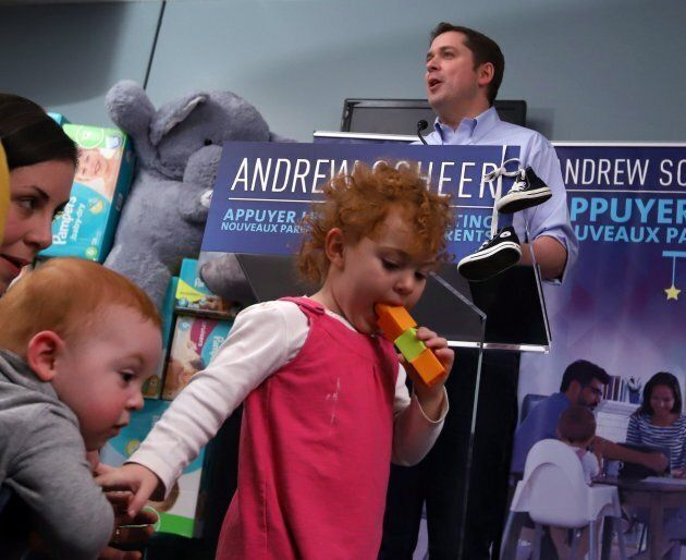 Conservative Party Leader Andrew Scheer announces that he is putting forward a private members bill to...