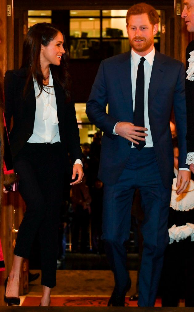 Meghan Markle and Prince Harry arrive to attend the annual Endeavour Fund Awards at Goldsmiths' Hall...