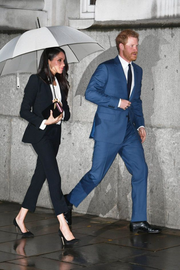 Prince Harry and Meghan Markle arrive to attend the annual Endeavour Fund Awards at Goldsmiths' Hall...