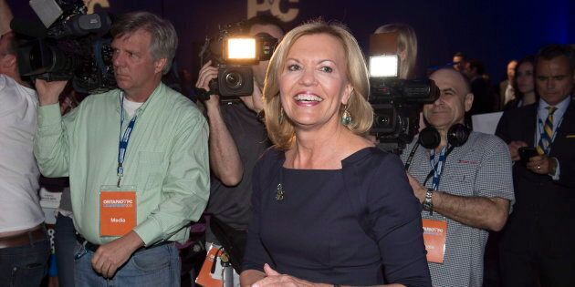 Ontario Progressive Conservative party leadership candidate Christine Elliott attends the PC party leadership...
