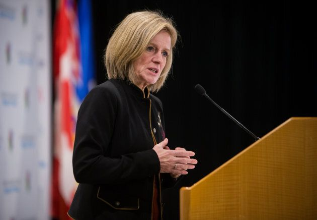 Rachel Notley, Alberta's premier, speaks during the Greater Vancouver Board of Trade's annual Energy...