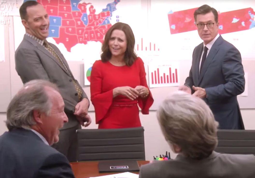 Veep and Stephen Colbert