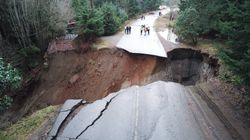 See Surreal Photos Of Giant Sinkhole That Snared B.C.