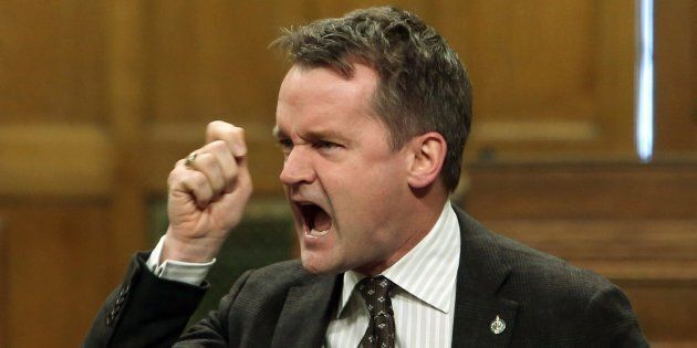 Veterans Affairs Minister Seamus O'Regan speaks in the House of Commons on Parliament Hill on Feb 2, 2018.