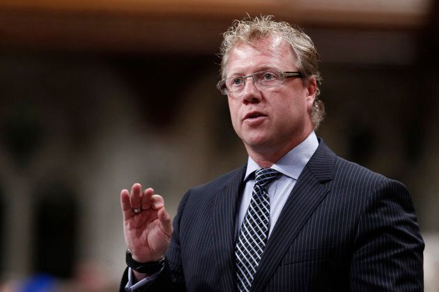 Canada's former Parliamentary Secretary to the Minister of Citizenship Rick Dykstra speaks during Question...