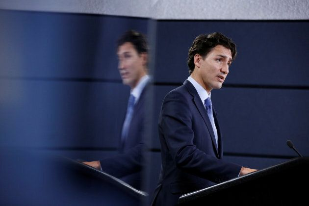 Prime Minister Justin Trudeau speaks during a news conference in Ottawa on Nov. 29,