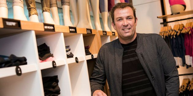 Laurent Potdevin, then CEO of Lululemon Athletica Inc., poses for a photograph at the company's store...