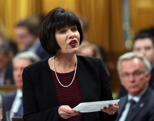 Health Minister Ginette Petitpas Taylpr responds to a question during Question Period in the House of...