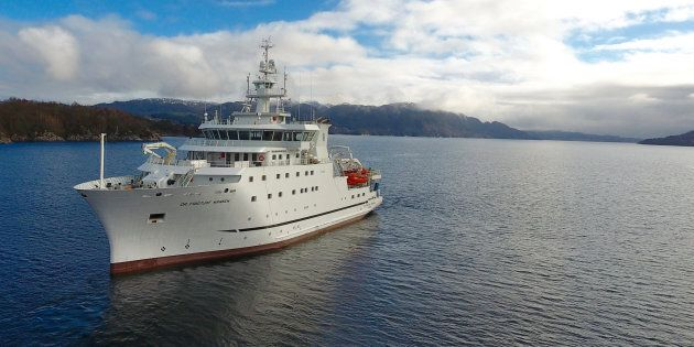 "A new research vessel ""Dr. Fridtjof Nansen"" conducts stock assessments and other types of research in..."