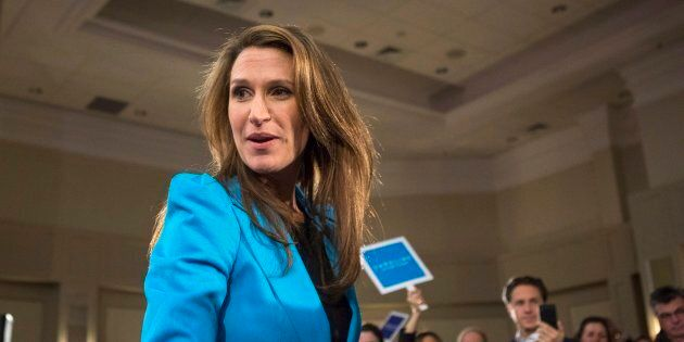 Ontario Progressive Conservative Party Leadership candidate Caroline Mulroney appears at a event in Toronto...