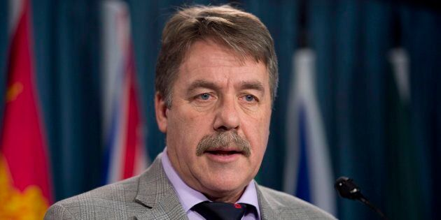 Peter Stoffer speaks during a news conference on Parliament Hill on Dec. 9,