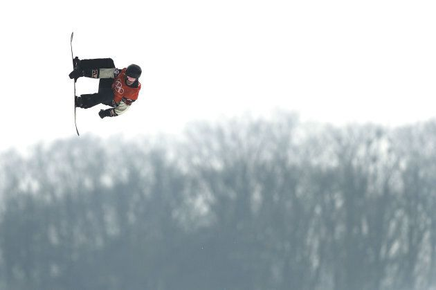 Canada's Max Parrot of Canada competes during the Men's Slopestyle