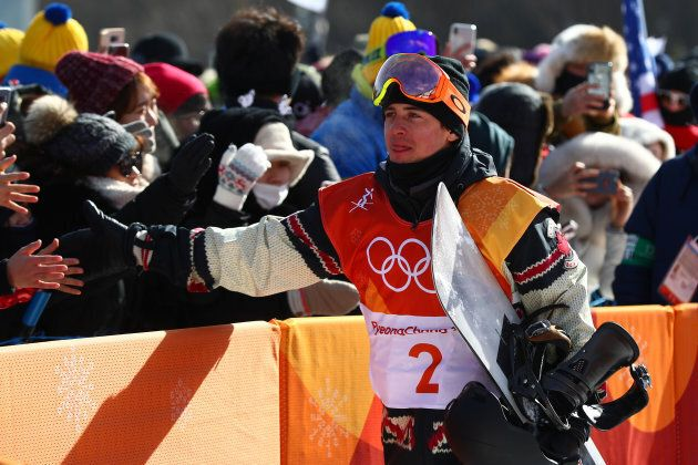Mark McMorris of Canada thanks the crowd during the Snowboard Men's Slopestyle Final on day two of the...