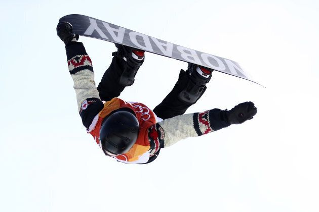 Canada's Max Parrot competes during the Snowboard Men's Slopestyle