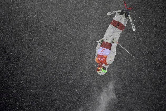 Canada's Andi Naude competes in the women's moguls