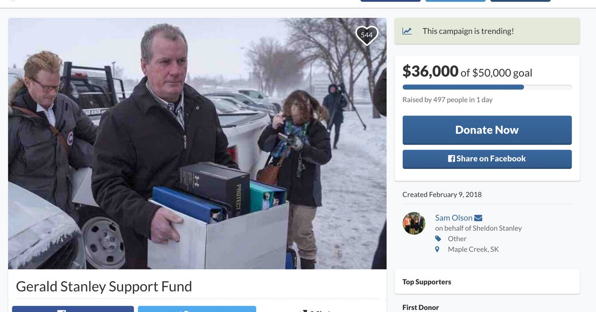 Gerald Stanley GoFundMe Fundraiser Won't Be Removed, Company